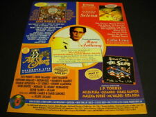 Marc Anthony in memory Selena Super Cuban All Stars others 1996 Promo Poster Ad