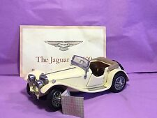 Franklin Mint 1/24 Scale Diecast - FMC26 Jaguar SS-100 Cream Roadster