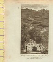 C1790 Antico Georgiano Stampa ~ Naturale Rock Arco At Alto Methop ~ Westmoreland