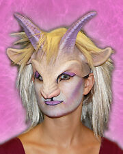 Goat Girl Female Sexy Horned Horns Animal Adult Halloween Mask & Wig