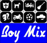 8 x MINI *BOY MIX * TATTOO STENCILS (7225) Glitter Airbrush Facepaint Body Art