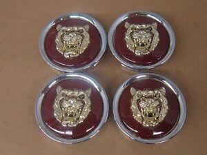 Jaguar Wheel Center Cap Ruby Red & Gold Growler Set Of 4 MNA6249CB 95-97 XJ6 OEM