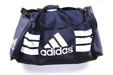 Vintage 90s ADIDAS Big Logo Spell Out Casual Duffel Duffle Gym Bag Navy Blue