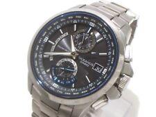 Auth CASIO Oceanus OCW-T1000 Silver Black Men's Wrist Watch 0N1006/001A312J