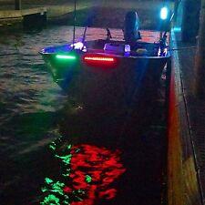 4X White Green Red Bow LED 1 Ft Submersible Navigation Light Stern Boat 12V Nav