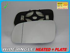 Wing Mirror Glass For AUDI A3 A4 A6 A8 1994-1999 Wide Angle HEATED Left #A005