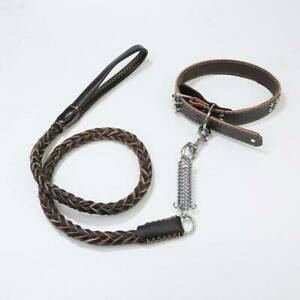 Dog Collar Woven Dogs Chain Link Traction Rope Dog Leash Pet Traction Rope DP