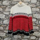 Russ Womens Ugly Christmas Sweater Size Large Turleneck Pullover Super Soft Knit