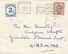 AUSTRALIA 1971 COVER WITH GIBRALTAR POSTAGE DUE.
