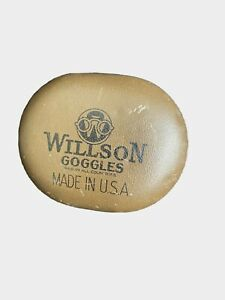 Vintage Willson Goggles Empty Tin Motorcycle Aviation U.S.A. Advertising