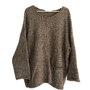 Pure Jill J.Jill Sweater 3x Specked Pockets Oatmeal White Knit Plus Women