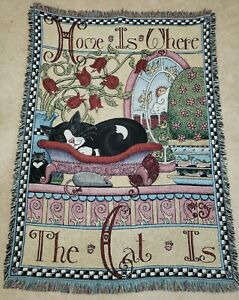 Pure Country Weavers Home is Where The Cat Is Alan McCoy Blanket Throw Woven A7D