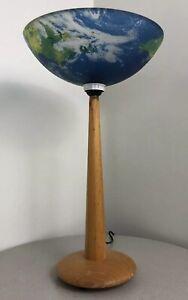 Vintage Retro 1990s Modern Contemporary Earth Globe Planet Accent Lamp Rare