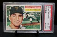 1956 Topps #138 Johnny Antonelli PSA EX-MT 6 Grey Back