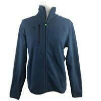 NWT Timberland Total Comfort Fleece Jacket Mens XS Navy Blue Slope Full Zip
