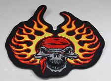 Patch ecusson Skull bandana flamme  , custom,  harley, moto; biker,
