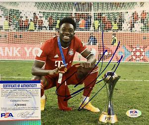 Alphonso Davies Signed 8x10 Photo PSA/DNA COA FC Bayern Munich Canada