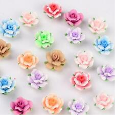 14 Stück Fimo Perlen Polymer Clay Beads Blume Blüte  Rose (1598)