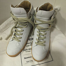 Maison Martin Margiela Paris H&M High Top Sneakers Weiß White Leder 37 US 6 UK 4
