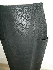 Rare Vtg '80's Canadian Design Izzy Camilleri animal print leather skirt s