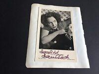 HANNELORE SCHROTH †1987 signed Foto-Karte 9x14 auf Albumausschnitt 13x16