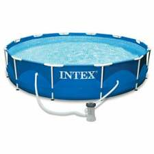 "12' X 30"" Metal Frame Pool Blue"