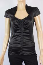 REVIEW sz 8 Ladies Fitted Black Office or Evening Top - BUY 5 GET FREE POST