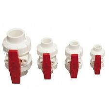 NEW PVC 25mm True Union Ball Valves white/red ( ABTU025 ) will only suit metric