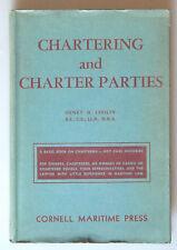 PRL) 1947 BOOK LIBRO LIVRE CHARTERING CHARTER PARTIES CORNELL MARITIME PRESS