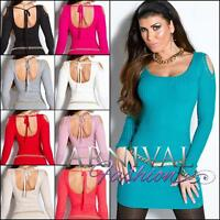 Sexy JUMPER DRESS KNITTED LONG SLEEVE TOP WOMEN SWEATER AU casual pullover shirt