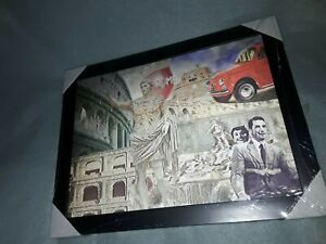 3d Rome black Framed wall hanging Picture  Roman holiday  Brand new and sealed