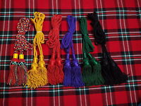 HIGHLAND GREAT SCOTTISH SILK BAGPIPE CORD DIFFERENT COLOR/BAGPIPE DRONE