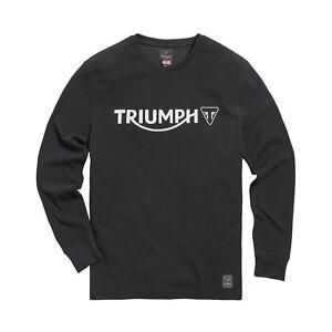 GENUINE TRIUMPH SHIRT BETTMANN BLACK LONG SLEEVE SHIRT TRIUMPH LOGO SHIRT