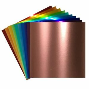Craftables Metallic Adhesive Permanent Vinyl Sheet (1) | for Cricut, Silhouette