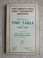 Portsmouth Area Joint Transport Services: Official Time Table and Route Map 1967