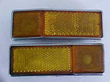 Maserati Indy Front Side Marker Lamp Lights_Amber_Front_Pair_Altissimo_OEM