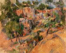Bibémus by Paul Cézanne 60cm x 48cm Art Paper Print