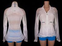 LULULEMON 6 Rare Nothin' To Hide Jacket White Cream Mesh Translu Windbreaker