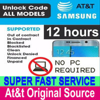 AT&T ATT UNLOCK CODE SERVICE FOR SAMSUNG GALAXY S9 S8 S7 S6 S5 S4 NOTE 8