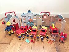Fireman Sam Bundle Fire Station, Village Rescue, Tower, Jupiter, Venus, figures