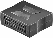 Goobay Scart adaptor black Scart female 21-pin to Scart female 21-pin 50771