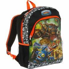 "F-A-B Starpoint 2012 Skylanders Giants Black & Orange Graphics Backpack 16"""