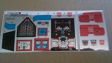 A Transformers premium quality replacement sticker/decal sheet for G1 Sandstorm