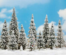 Busch 6465 NEW 10 SNOWED TREES AND SNOWMAN