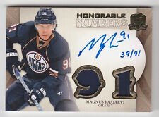 2011/12 THE CUP MAGNUS PAAJARVI HONORABLE NUMBERS AUTO JERSEY CARD #HN-MP 39/91