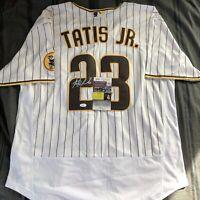 Fernando Tatis Jr. Signed Jersey SD Padres Home Autographed Auto XL + JSA COA!