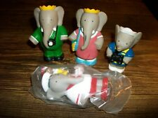 4 BABAR ARBY'S HAPPY MEAL TOYS 1 MIB