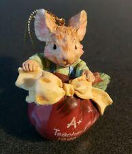 Teacher Ornament Apple & Mouse 1996