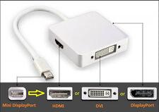 Macbook Pro Air Mac Mini Display Port DP Thunderbolt to DVI HDMI Adapter Cable