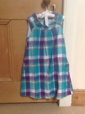 Boden Dress, 4-5y Summer, Blue& Lilac Check
